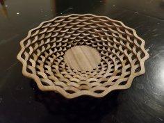 Laser Cut Simple Basket Template SVG File
