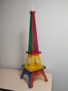 Eiffel Tower Acrylic Decoration 3mm Laser Cut Template Free Vector