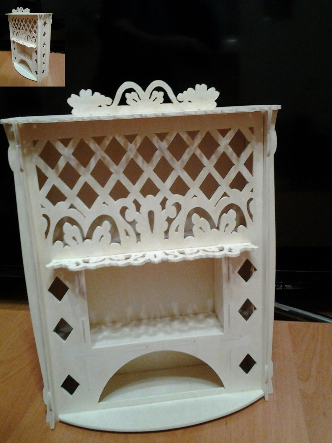Laser Cut Dollhouse Fireplace Toy Free Vector