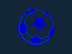 Soccer Keychain stl file