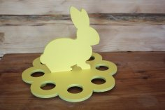 Laser Cut Easter Egg Stand Easter Bunny Free Vector