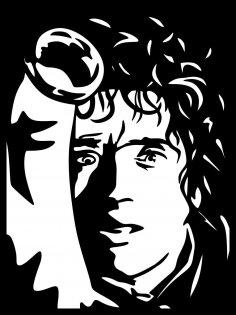 Frodo Baggins Stencil Vector Art Free Vector