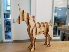 Laser Cut Unicorn PDF File