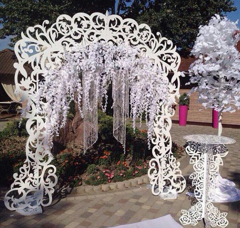 Decorative DIY Wedding Arch and Table Laser Cut Free Vector
