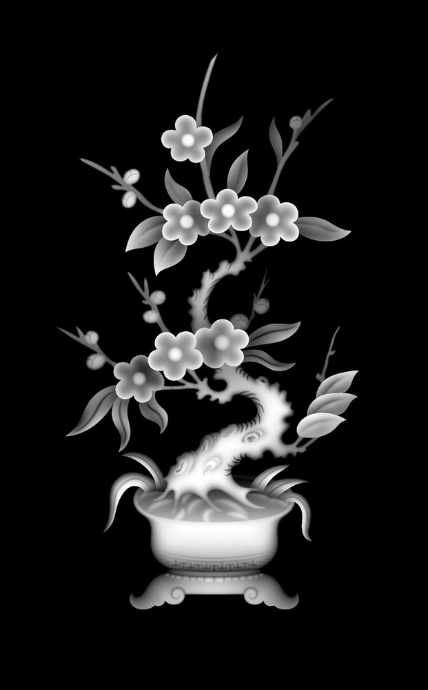 3d Grayscale Image 201 BMP File