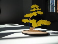 Laser Cut Bonsai Tree Free Vector