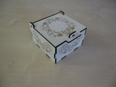 Laser Cut Jewelry Box 3mm Laminated MDF Free Vector