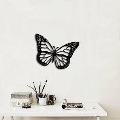 Laser Cut Butterfly Wall Art Decoration Free Vector