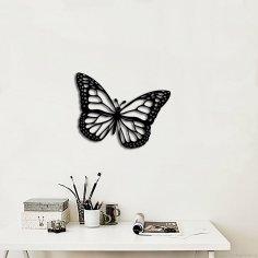 Laser Cut Butterfly Wall Art Decoration Free Vector