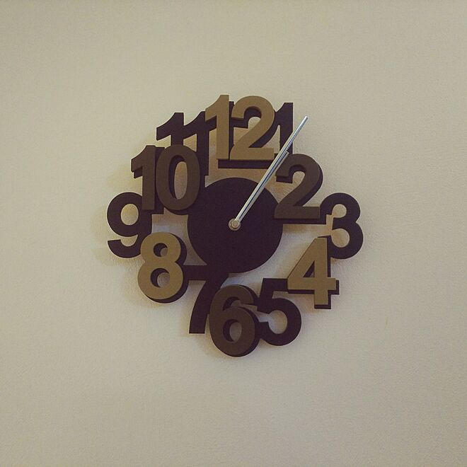 Laser Cut Contemporary Wall Clock With Bold Numbers Free Vector