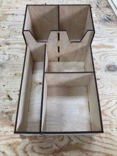 Laser Cut Coffee Tea Paper Cup Holder Storage Box Free Vector