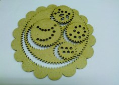 Laser Cut Spirograph Toy Spiral Drawing Kit Free Vector