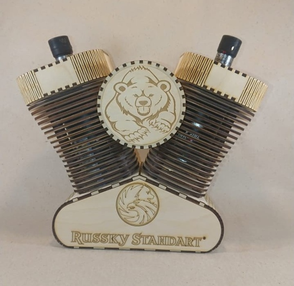 Laser Cut Harley Davidson Lamp Free Vector
