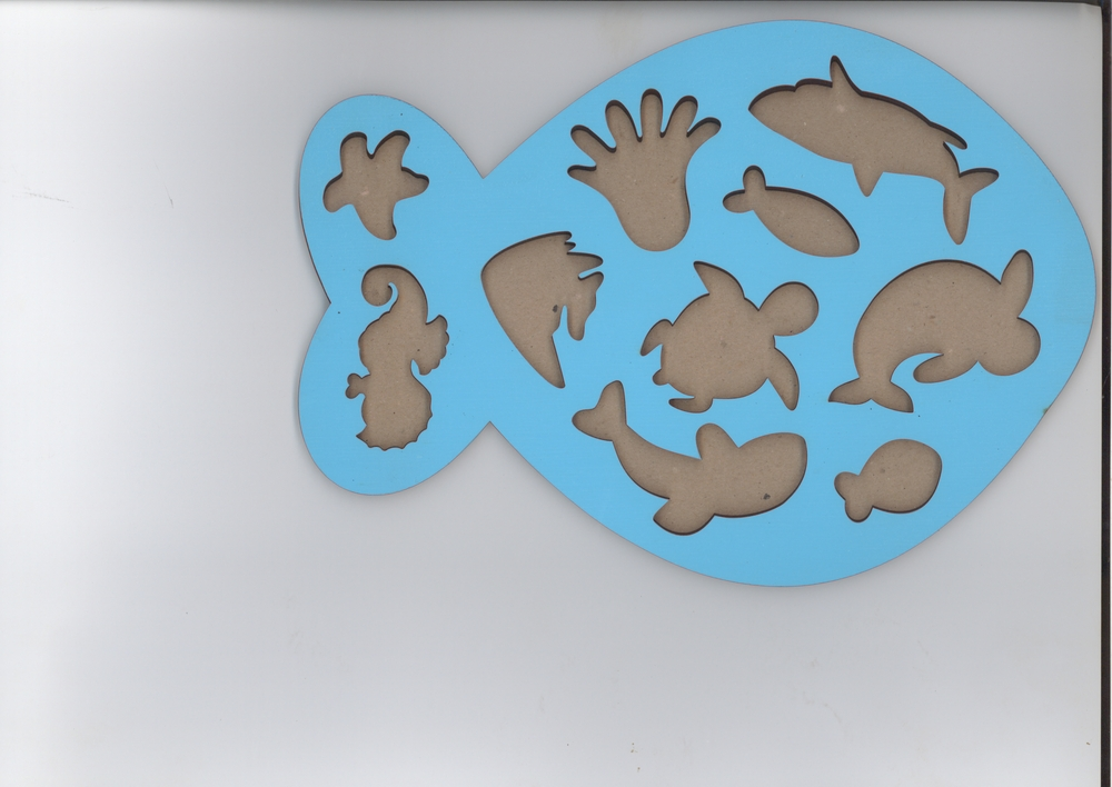 Laser Cut Wooden Fish Peg Puzzle Educational Toy Sea Creature Peg Puzzle Free Vector
