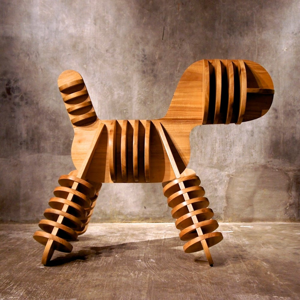 Laser Cut Creative Small Stool Kids Stool Puppy Stool Free Vector