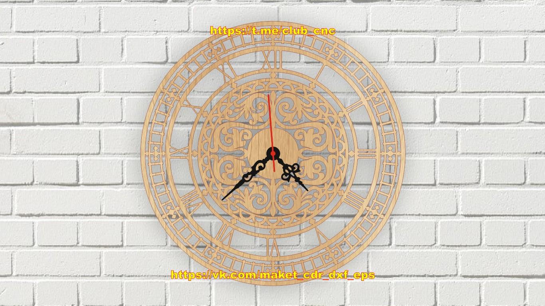 Laser Cut Decor Wall Clock Template Free Vector