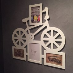 Laser Cut Bike Photo Frame Template Free Vector