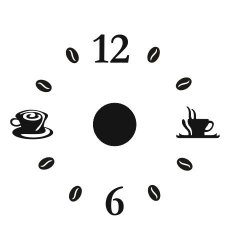 Laser Cut Simple Coffee Wall Clock Template Free Vector