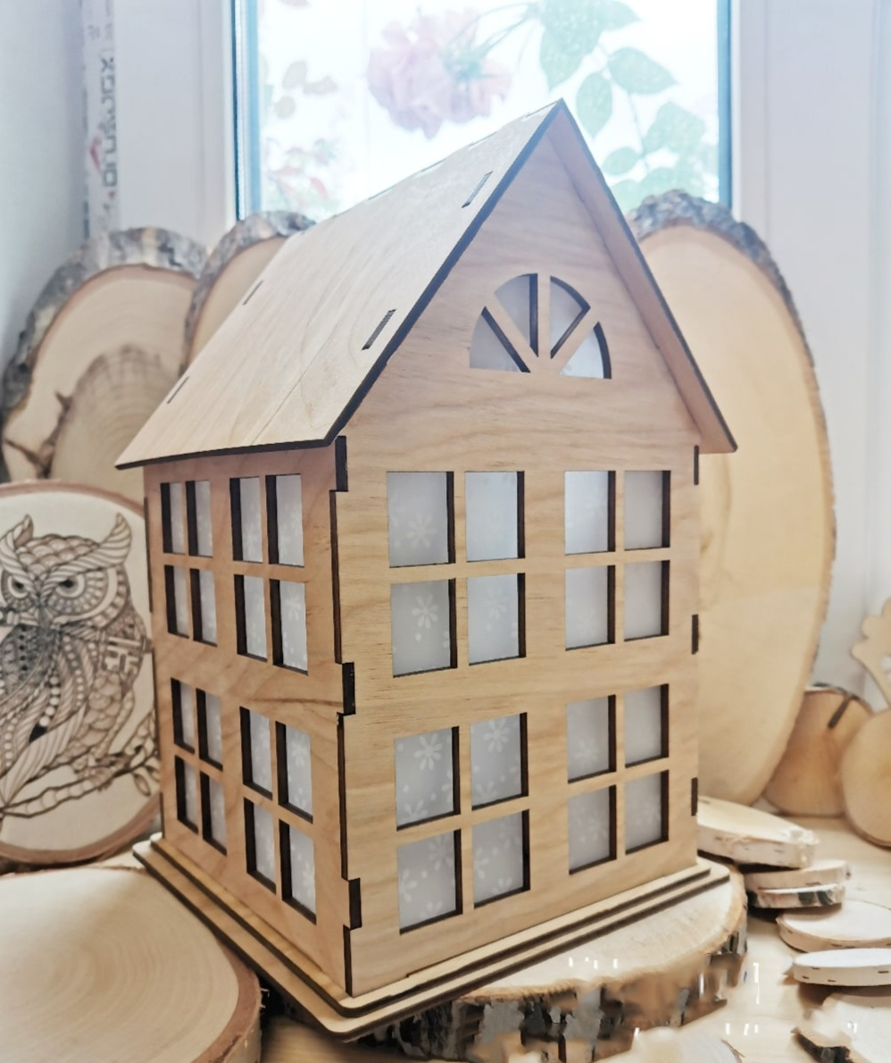 Laser Cut Small Wooden House 4mm Free Vector