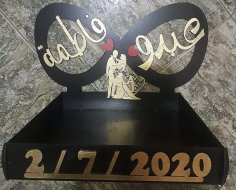 Laser Cut Personalised Name Couples Stand Wedding Decor Free Vector