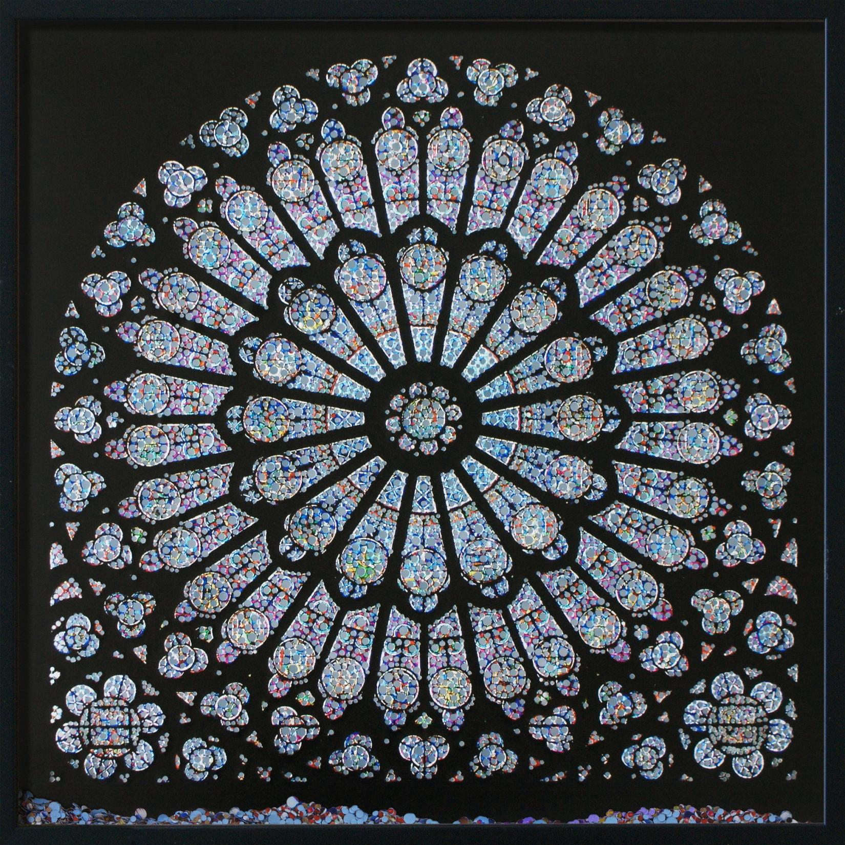Laser Cut Cathedral Window Notre Dame Rose Window DXF File