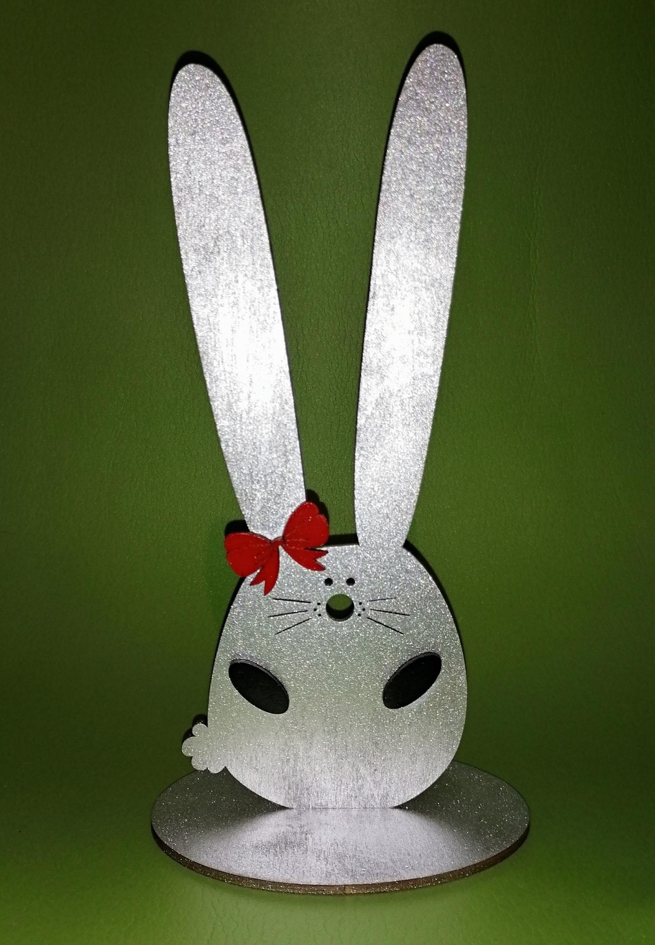 Laser Cut Bunny Hairband Stand Headband Holder Hairclip Showcase Free Vector