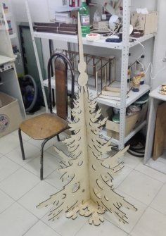 Laser Cut Artificial Christmas Tree Modern Christmas Tree Alternatives Plywood 6mm Free Vector
