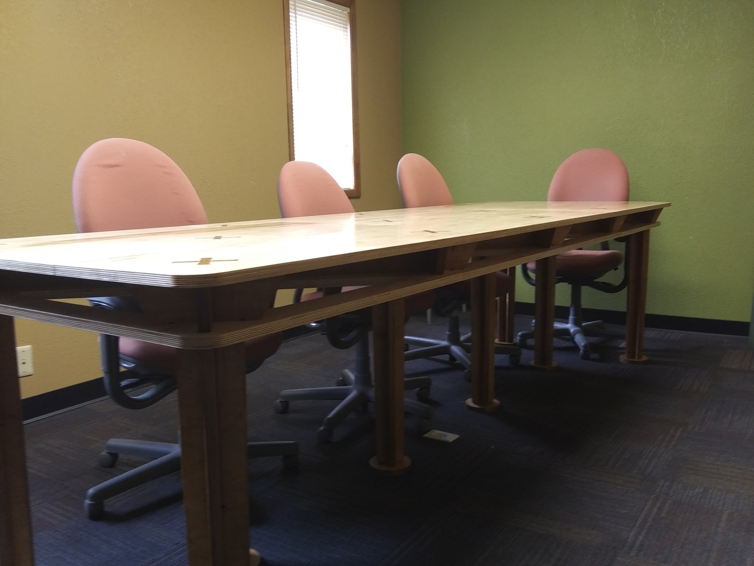 Laser Cut Conference Room Table 10x4ft DXF File