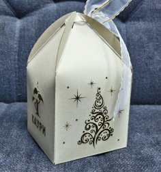 Laser Cut Favor Box For Weddings & Party Gifts Free Vector