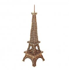 Laser Cut Wooden Eiffel Tower 3D Model Kit Free Vector