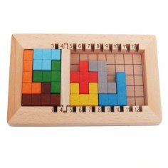 Laser Cut Wooden Block Puzzles Kids Toy Free Vector
