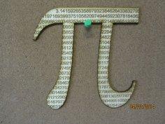 Laser Cut Pi Symbol Free Vector