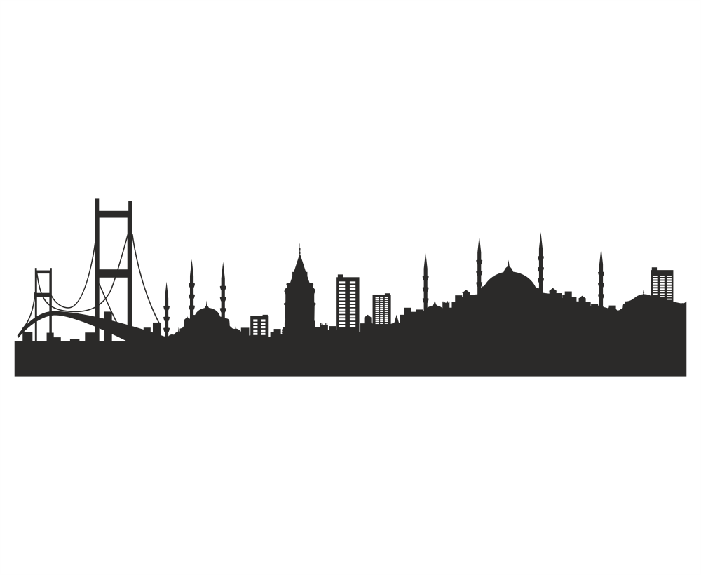 Istanbul Silhouette Vector Art Free Vector