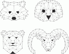 Animals Polygons Vectors Free Vector