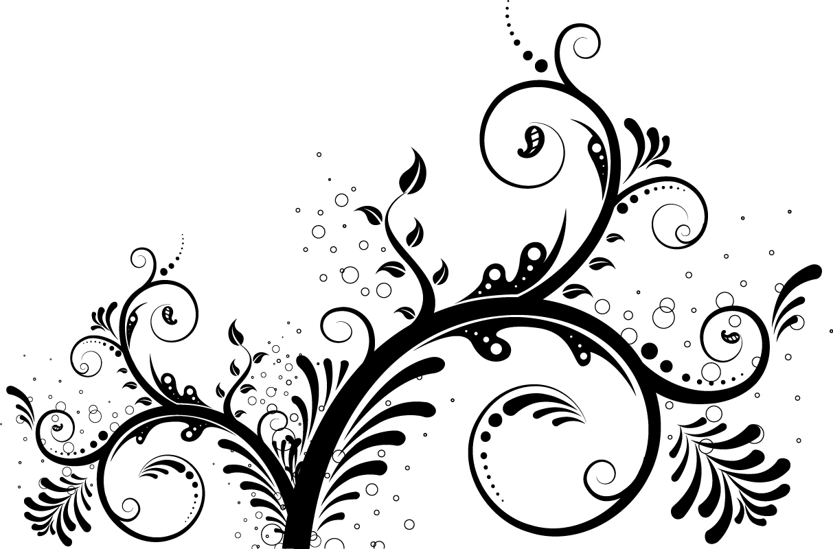 Vector Swirl Floral Ornaments Free Vector