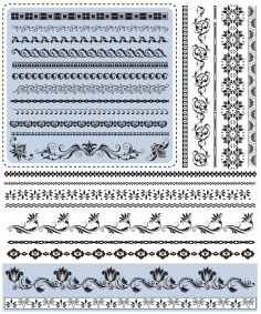 Floral Border Elements Free Vector