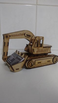 Laser Cut Excavator Visiting Card Holder Free Vector