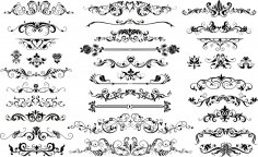 Floral Border Vector Set Free Vector
