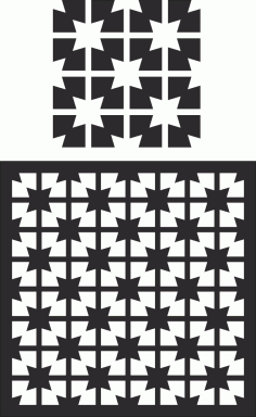 Laser Cut Decorative Screen Pattern Free Vector