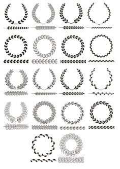 Vector Laurel Wreath Vector Art Free Vector