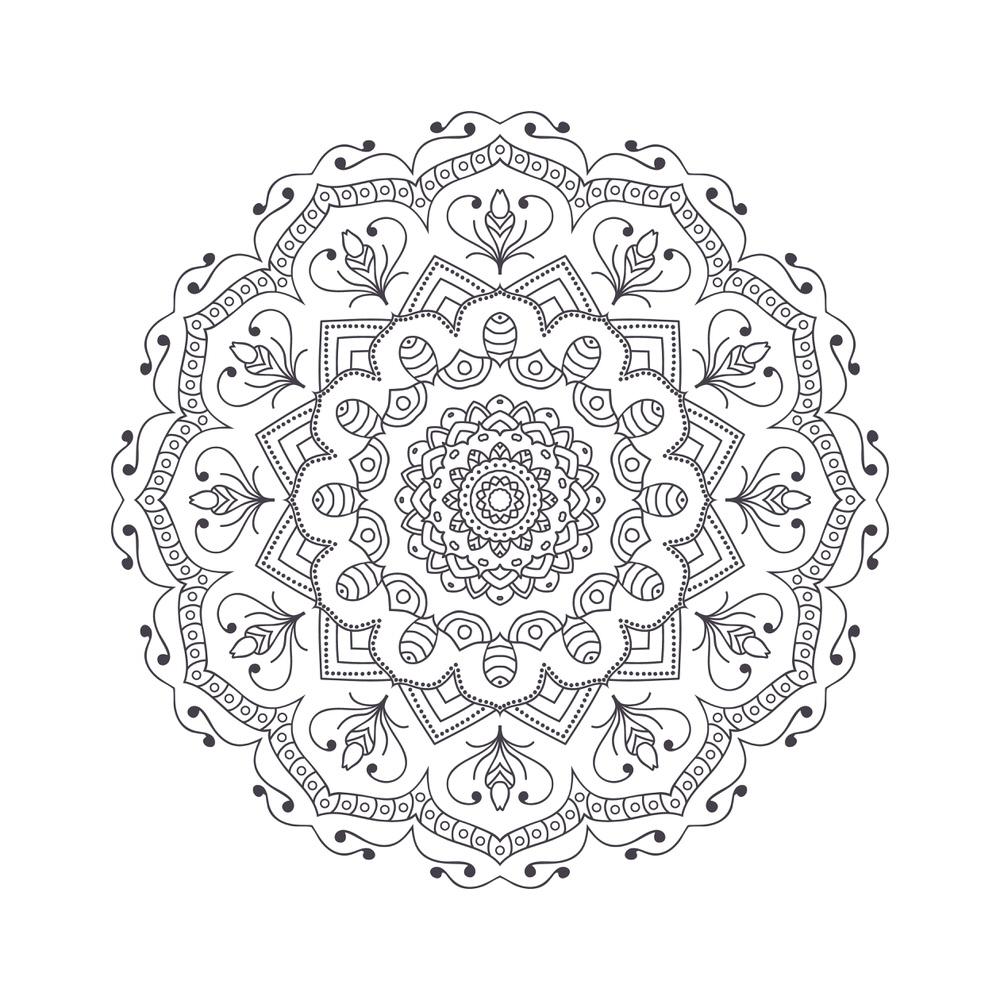 Mandala For Coloring 3 Free Vector