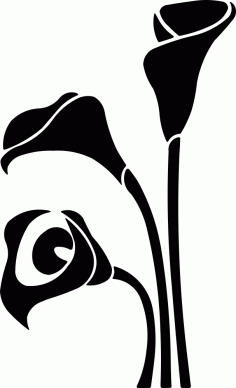 Black White Flower Decor Vector Free Vector
