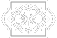 Floral Pattern dxf file