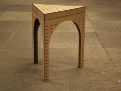 Triangle Stool Laser Cut PDF File