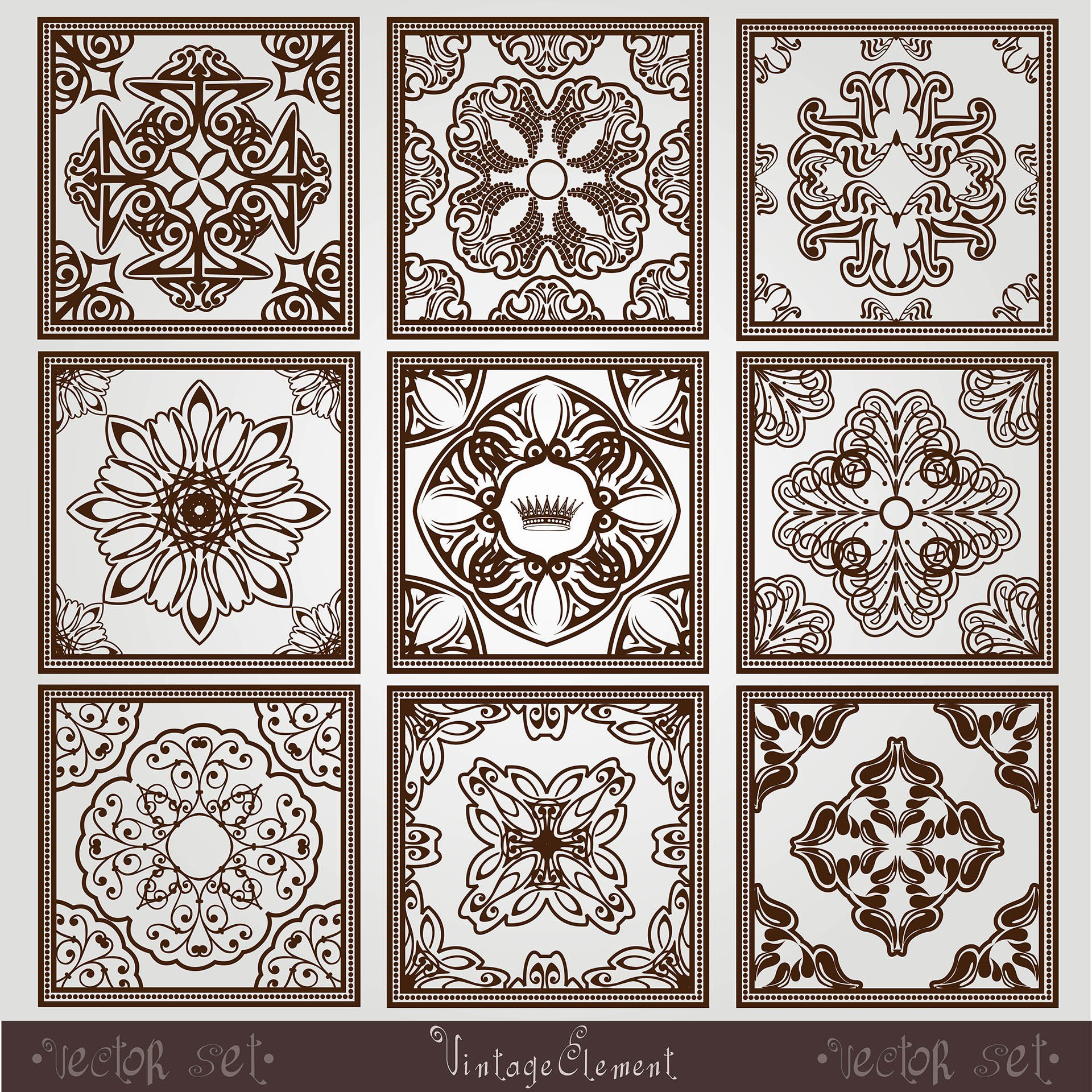 Vintage Square Pattern Free Vector