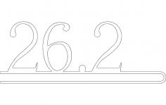 26 2 Number DXF File