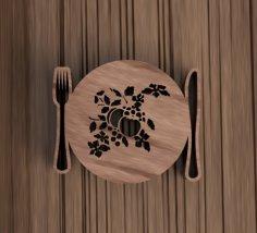 Laser Cut Wooden Decorative Placemat Free Vector