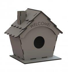 Laser Cut Bird Nest Box Free Vector