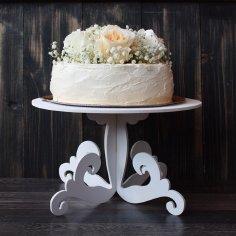 Laser Cut Decorative Wedding Cake Stand Free Vector