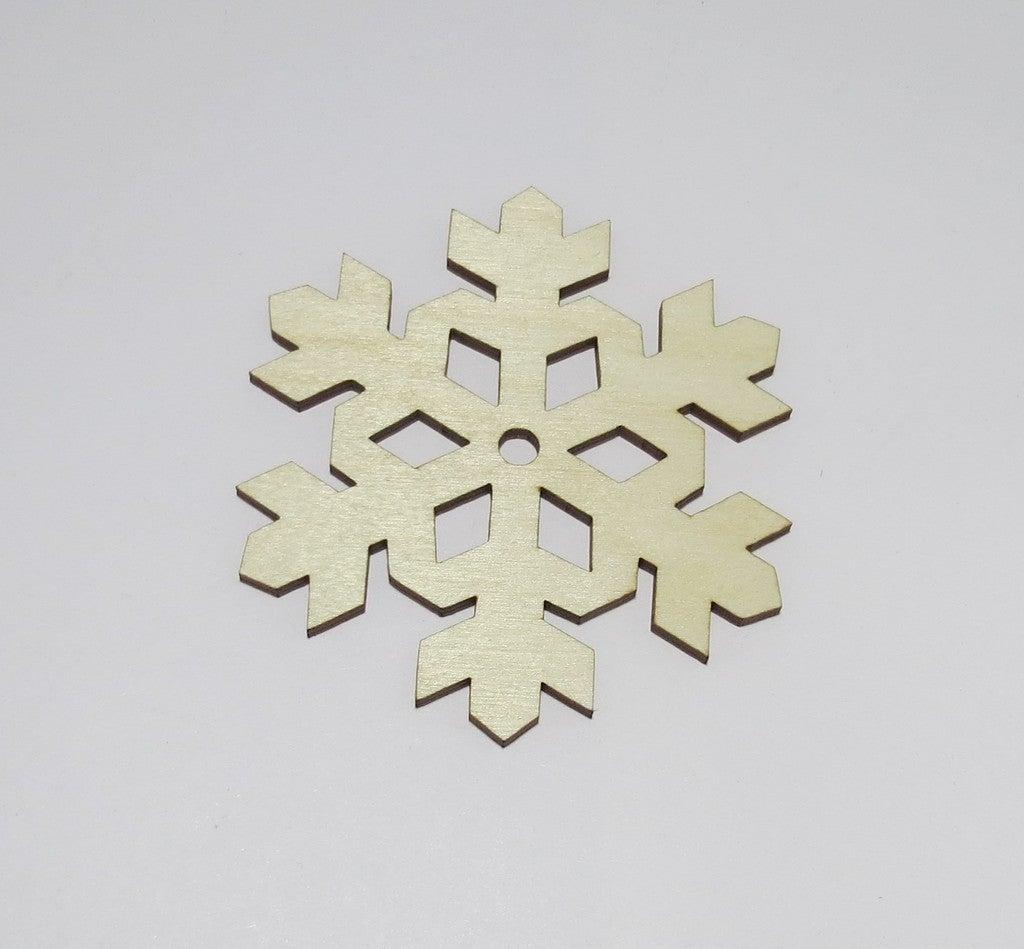 Laser Cut Snowflake Coasters Birch Plywood 3mm SVG File